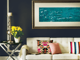 Bright colors such as fuchsia and sea foam are the energetic bolt between dramatic black and feminine pale pink, blue and gray neutrals in the Elusion palette.